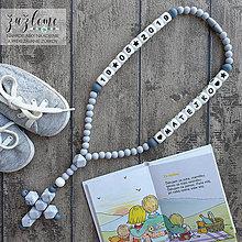 """Iné šperky - Bezpečný ruženec pre bábätko """"Mramorový"""" - 12007381_"""