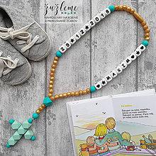 """Iné šperky - Bezpečný silikónový ruženec pre bábätko """"Kráľovstvo nebeské"""" - 12007425_"""
