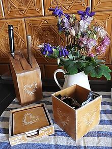 Krabičky - Romantický stojánek rustikal malý - 12006606_