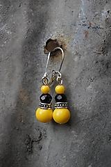 Náušnice - Náušnice žlté - 12006854_