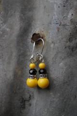 Náušnice - Náušnice žlté - 12006855_
