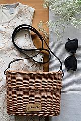 Kabelky - Prútená kabelka na rameno BASIC - svetlá - 12005501_