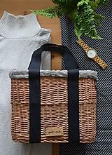 Kabelky - Prútená kabelka do ruky N°3 (Prútená kabelka do ruky N°3 svetlý ľan) - 12005568_