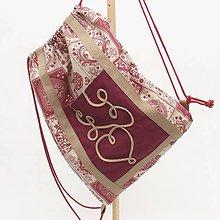 Batohy - Batoh - Srdcový patchwork bordó MAXIM - 12006114_