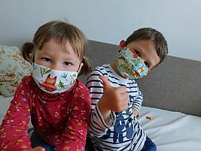 Rúška - Šťastný návrat do škôlky:), detské rúška - 12007201_