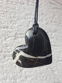Náhrdelníky - Čierne srdce - 12005936_