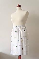 Sukne - Krátka sukňa z tenclu - 12005838_