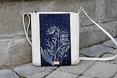 Kabelky - modrotlačová kabelka Dara krémová AM 3 - 12004597_