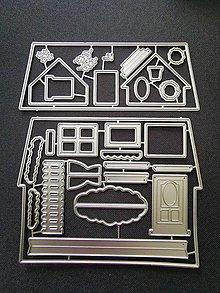 Pomôcky/Nástroje - Kovové vyrezávanie šablóny - domček - ZĽAVA z 10 EUR - 12006140_