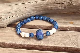 Náramky - Náramok z minerálu lapis lazuli, láva a jaspis - 12005127_