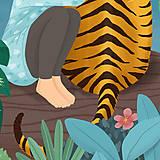 Grafika - Tygr - umělecký tisk, A4 - 12010580_
