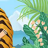 Grafika - Tygr - umělecký tisk, A4 - 12010581_