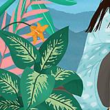 Grafika - Tygr - umělecký tisk, A4 - 12010585_