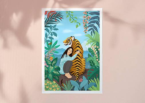 Tygr - umělecký tisk, A4