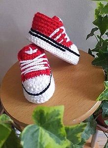 Topánočky - Červené minitenisky - 12009754_