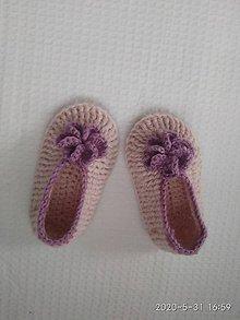 Topánočky - Papučky - ružička - 12009906_