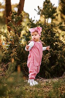 Detské oblečenie - Overal - ružový  - 12011630_