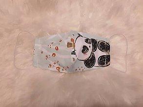 Rúška - Detské rúško pandička M - 12011352_