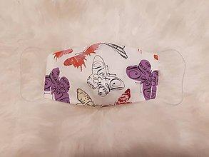 Rúška - Detské rúško motýliky M - 12011361_