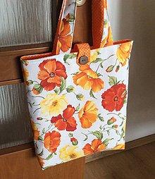 Nákupné tašky - oranžová letná taška - 12008533_