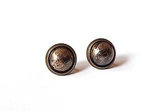 Náušnice - Perleťové puzetky v staromosadzi 18 - 12010529_