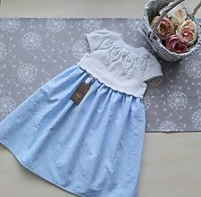 Detské oblečenie - Šaty  nebeské  - 12007849_