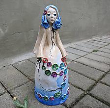 """Dekorácie - """"Gombíková víla"""" - maľovaný zvonec - 12009960_"""