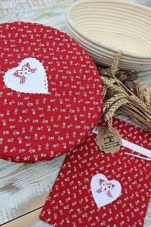 Úžitkový textil - Čiapka na kváskovanie na ošatku+vrecko - 12010836_