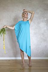 Šaty - Letné šaty s prekríženým ramenom - 12008918_