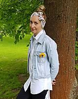 Šatky - Šatková čelenka - 100% bavlna - 12010063_