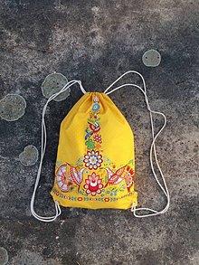 Batohy - Vak s Vajnorským ornamentom žltý - 12008768_