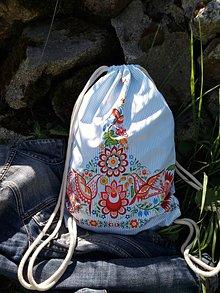 Batohy - Vak s Vajnorským ornamentom pásikavý - 12009046_