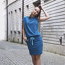 Šaty - Contrast (turqoise) - 12008148_