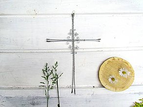 Dekorácie - Krížik svadobný*20,5 cm - 12007597_