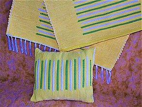 Úžitkový textil - Tkaný koberec a tkaná obliečka - 12008159_