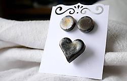 Sady šperkov - keramická sada č. 186 - olejová škvrna - 12012819_