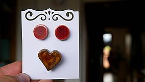 Sady šperkov - keramická sada č. 188 - malinová čokoláda - 12012860_