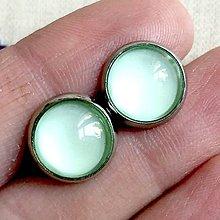 Náušnice - Color Stainless Steel Earrings / Farebné náušnice z chirurgickej ocele (02 Mentolová svetlá) - 12012830_