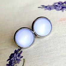 Náušnice - Color Stainless Steel Earrings / Farebné náušnice z chirurgickej ocele (04 Levanduľová) - 12012839_