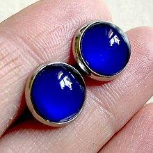 Náušnice - Color Stainless Steel Earrings / Farebné náušnice z chirurgickej ocele (05 Modrá) - 12012842_