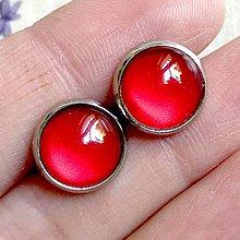 Náušnice - Color Stainless Steel Earrings / Farebné náušnice z chirurgickej ocele (06 Červená) - 12012867_