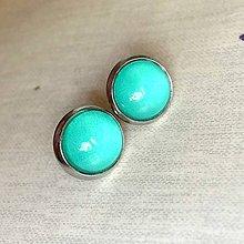 Náušnice - Color Stainless Steel Earrings / Farebné náušnice z chirurgickej ocele (08 Tyrkysová) - 12012888_