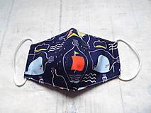 Rúška - Bavlnené rúška... detské ( 5-10 rokov) rôzne vzory - 12015313_
