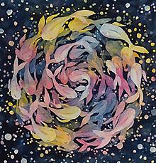 Obrazy - farebné rybičky - 12014790_
