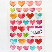 Papier - Samolepky, srdce, srdiečko, srdcia - 12013350_