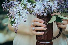 Prstene - Strieborný prsteň s ametystom - Levandulová - 12014027_