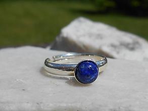 Prstene - lapis lazuli in silver-ring - 12015072_