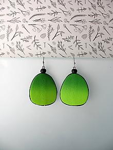 Náušnice - ,,Zelené blendované,, - 12012521_