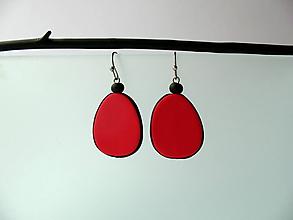 Náušnice - ,,Červené slzičky,, - 12012749_