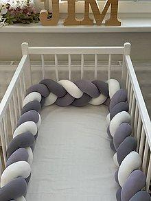 Textil - Detský pletený mantinel - 12013174_